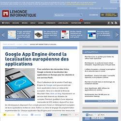 Google App Engine étend la localisation européenne des applications