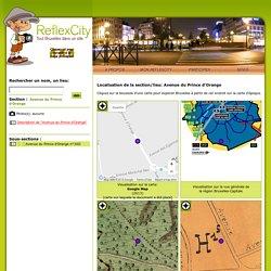 Localisation de 'Avenue du Prince d'Orange' sur 4 plans de Bruxelles