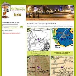 Localisation de 'Quartier du Chat' sur 7 plans de Bruxelles