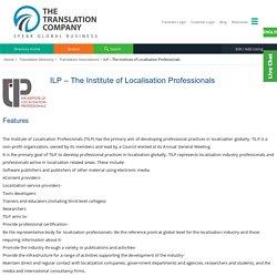 The Institute of Localisation Professionals