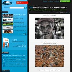 Filtre CSS «flou localisé» ou «flou progressif» - Créer de la profondeur de champ avec les filtres et les masques