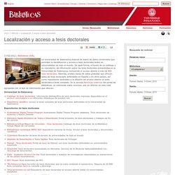 Localización y acceso a tesis doctorales