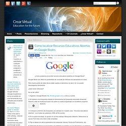 Como localizar Recursos Educativos Abiertos en Google Books