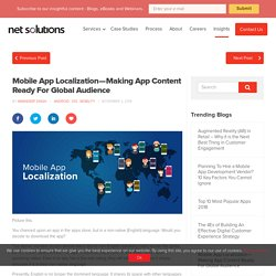 Mobile App Localization—Making App Content Ready For Global Audience