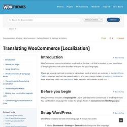 Translating WooCommerce (Localization)