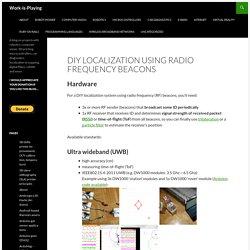 DIY localization using radio frequency beacons