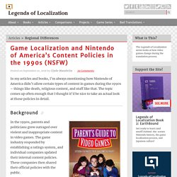 Game Localization and Nintendo of America's Content Policies in the 1990s (NSFW) « Legends of Localization