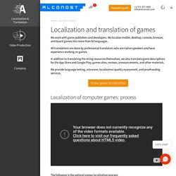 Localization of games. Platform, native speakers, testing, l10n — Alconost