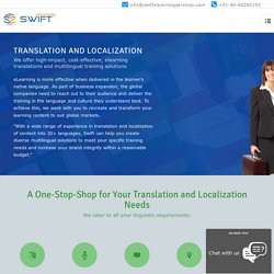 E-learning Content Localization, Translation and Voiceover Services
