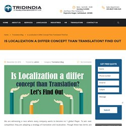 Read the Concept about How to Differentiate Localization and Translation