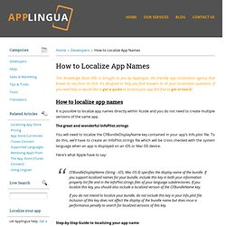 How to Localize App Names « Knowledge Base Knowledge Base