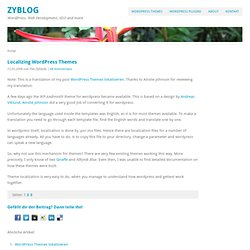 Localizing Wordpress Themes /// ZyBlog