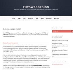 localstorage javascript - TutoWebdesign