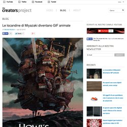 Le locandine di Miyazaki diventano GIF animate