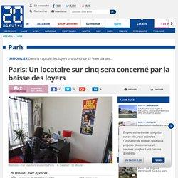 Paris: Un locataire sur cinq sera concerné par la baisse des loyers