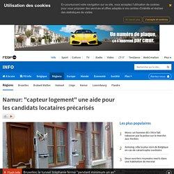 """Namur: """"capteur logement"""" une aide pour les candidats locataires précarisés"""