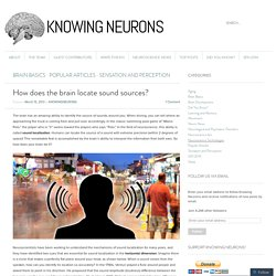 How does the brain locate sound sources?