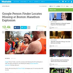 Google Person Finder Locates Missing at Boston Marathon Explosion