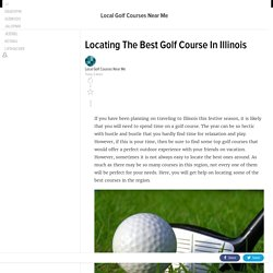 Locating The Best Golf Course In Illinois