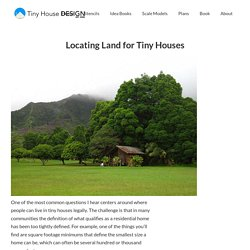 Locating Land for Tiny Houses