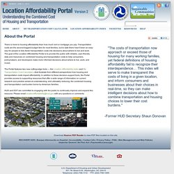 About the Location Affordability Portal