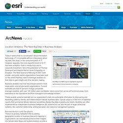 Location Analytics: The Next Big Step in Business Analysis