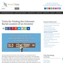 Tricks for Finding the Unknown Burial Location of an Ancestor — AncestralFindings.com