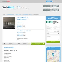 Location Bureau Nantes (Loire-Atlantique 44) 82 m² – Référence N° 44_31429