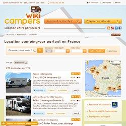 Location camping-car pas cher, entre particuliers, partout en France.