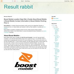 Result rabbit: Boost Mobile Location Near Me