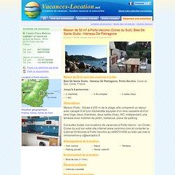 Maison à Porto-Vecchio, location vacances Corse du Sud : Disponible pour 4 personnes. Maison Porto : Située à 200 m de la