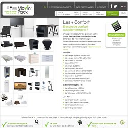 location meubles électromenager – Les + Confort - Movin' Pack France - Suisse