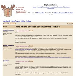 Find Friend Location Java Example