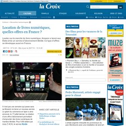 Location de livres numériques, quelles offres en France?