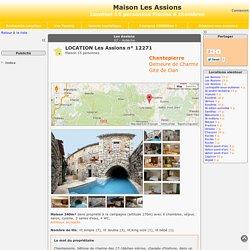 Maison Les Assions - location 15 personnes Piscine 6 chambres