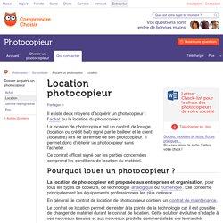 Location photocopieur : où et comment louer un photocopieur
