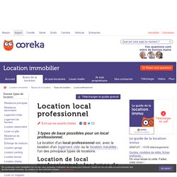 Location local professionnel : conseils - Ooreka