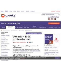 Location local professionnel: conseils - Ooreka