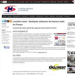Location moto : Quelques adresses de loueurs moto en France