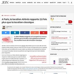 A Paris, la location Airbnb rapporte 2,6fois plus que la location classique