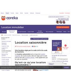 Location saisonnière: infos - Ooreka