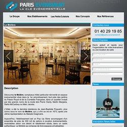 Le Molière: location de salle à Paris, séminaire, gala, cocktail,diner