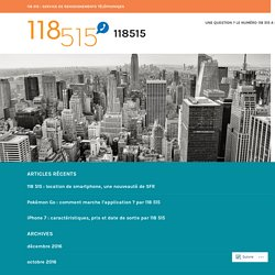 118 515 : location de smartphone, une nouveauté de SFR – 118515