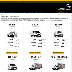 Location de voitures et utilitaires. Réserver en ligne !