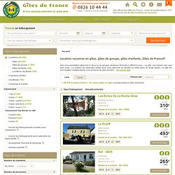 Location vacances en gîte rural Gîtes de France - Gîtes de France