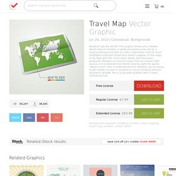 Travel Map Vector Graphic