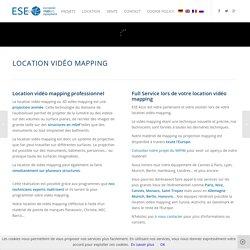 Location vidéo mapping » vidéoprojection 3D - ESE AZUR