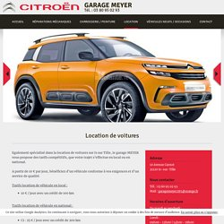 Location voiture Is-sur-Tille, Garage Meyer, local, national, Citroën