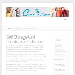Self Storage Unit Locations in California