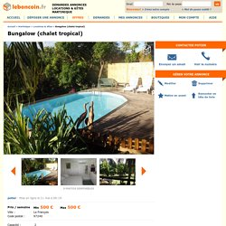 Bungalow (chalet tropical) Locations & Gîtes Martinique